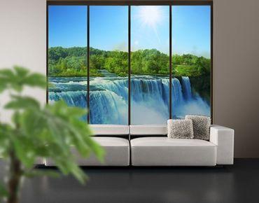 XXL Pellicola per vetri - Waterfall Landscape