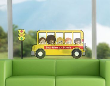 Adesivi per finestre no.AC153 Your Own Words School Bus