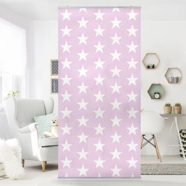 Tenda a pannello White Stars on Pink 250x120cm
