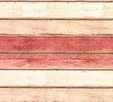 Carta da parati - A.S. Création Côte d`Azur in Marrone Crema Rosso