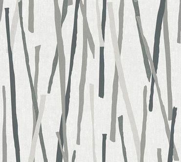 Carta da parati - A.S. Création Pop Colors in Crema Grigio Metalizzato