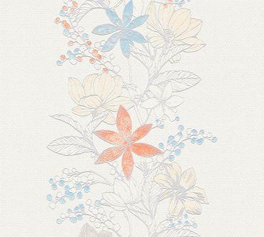 Carta da parati - Esprit Esprit 13 Romantic Botanics in Multicolore Metalizzato Bianco