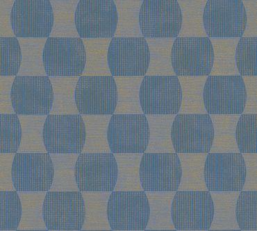 Carta da parati - A.S. Création livingwalls in Blu Metalizzato