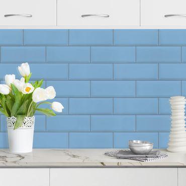 Rivestimento cucina - Mattonelle in ceramica blu