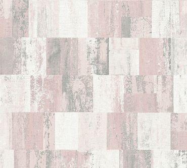 Carta da parati - Livingwalls Titanium 2 in Crema Metalizzato Rosa