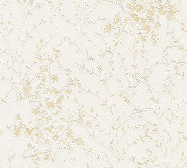 Carta da parati - A.S. Création Designdschungel 2 by Laura N. in Metalizzato Beige Grigio