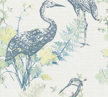 Carta da parati - A.S. Création Four Seasons in Blu Giallo Rosa