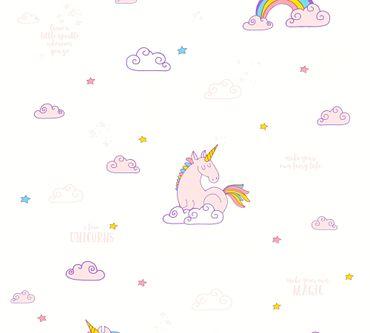Carta da parati - A.S. Création Boys & Girls 6 in Multicolore Lilla Bianco