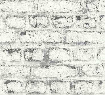 Carta da parati - A.S. Création Il Decoro in Grigio Bianco