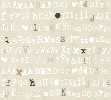 Carta da parati - Livingwalls Cozz in Grigio Beige Bianco