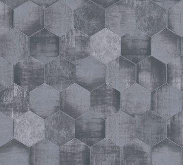 Carta da parati - A.S. Création Materials in Metalizzato Grigio