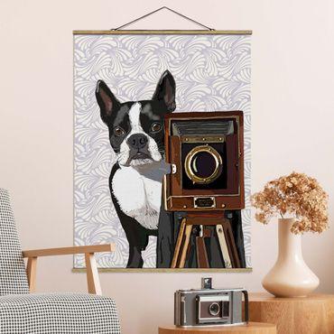 Foto su tessuto da parete con bastone - Wildlife Photographer Terrier - Verticale 4:3