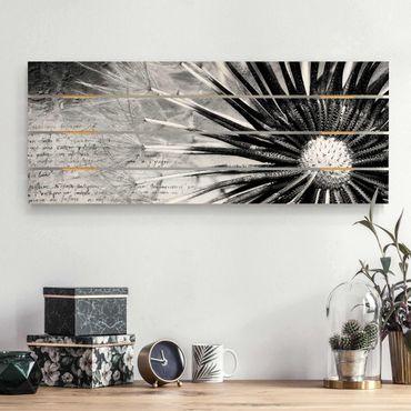 Stampa su legno - Dandelion Black & White - Orizzontale 2:5