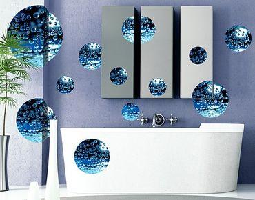 Adesivo murale no.519 Circles Dark Bubbles 12s Set