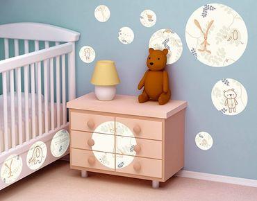 Adesivo murale no.521 Circles Pastel Plushies 12s Set
