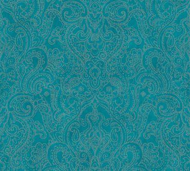 Carta da parati - A.S. Création Boho Love in Metalizzato Blu Verde