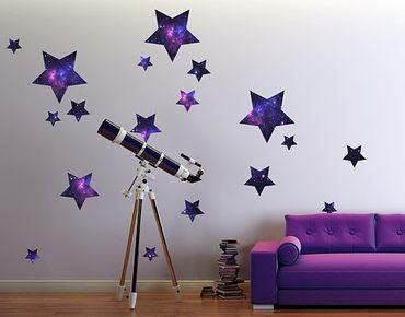 Adesivo murale no.542 Stars Galaxie 18s Set