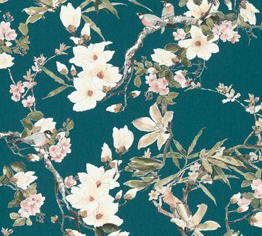 Carta da parati - Michalsky Living Dream Again in Blu Verde Rosa