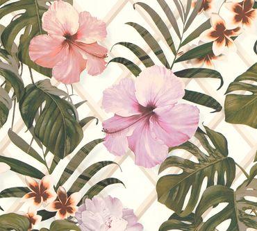 Carta da parati - Michalsky Living Dream Again in Verde Rosa Bianco