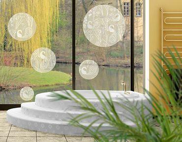 Adesivi da finestra no.517 Circles Swan Lake 5s Set