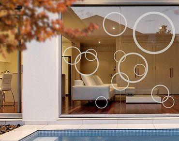 Adesivo per finestre - no.1180 Circles III 12s Set