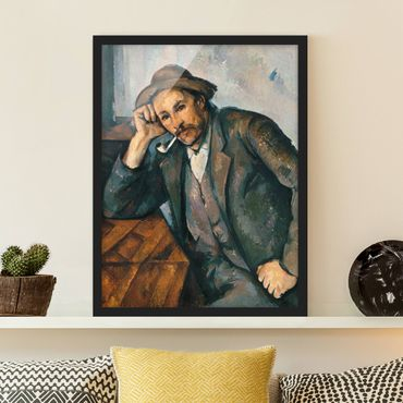 Poster con cornice - Paul Cézanne - The Pipe Smoker - Verticale 4:3