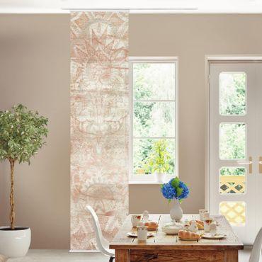 Tenda scorrevole set - Ornamento su tessuto I