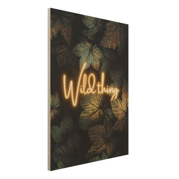 Stampa su legno - Wild Thing Golden Leaves - Verticale 4:3