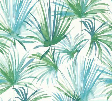 Carta da parati - Livingwalls Colibri in Blu Verde Bianco