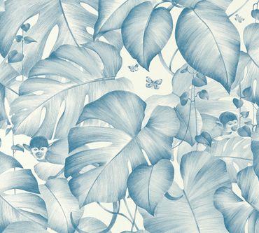 Carta da parati - Livingwalls Colibri in Blu Bianco