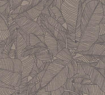 Carta da parati - A.S. Création Linen Style in Beige Grigio Nero