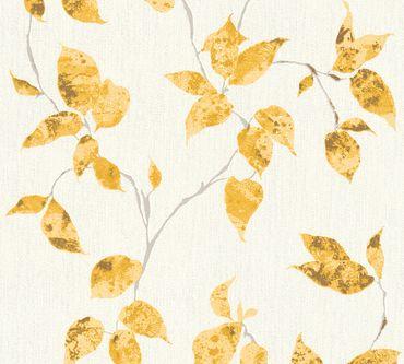 Carta da parati - A.S. Création Flavour in Metalizzato Giallo Bianco