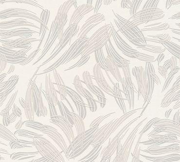 Carta da parati - A.S. Création Flavour in Metalizzato Bianco Grigio