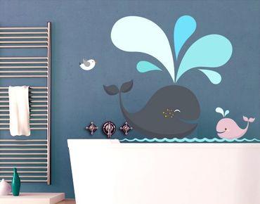 Adesivo murale no.EK146 Happy Whales