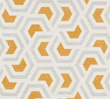 Carta da parati - A.S. Création Linen Style in Grigio Arancione Bianco