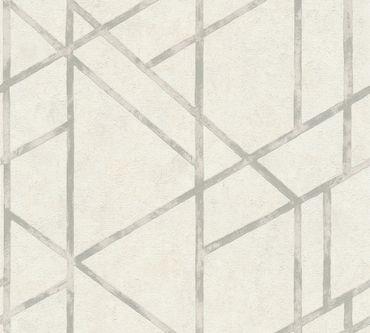 Carta da parati - Livingwalls Metropolitan Stories Francesca - Milano in Metalizzato Bianco