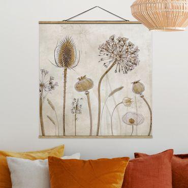 Foto su tessuto da parete con bastone - Growing Old - Quadrato 1:1