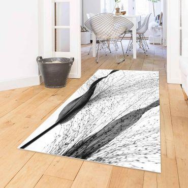 Tappeti in vinile - Canneto delicato con sottili gemme in bianco e nero - Orizzontale 2:1