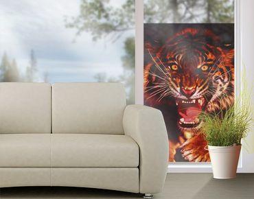 Decorazione per finestre Wild Tiger