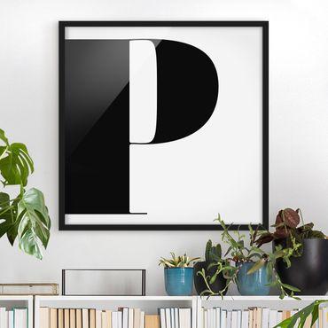 Poster con cornice - Antiqua Letter P - Quadrato 1:1