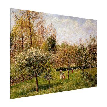 Lavagna magnetica - Camille Pissarro - Primavera in Eragny - Formato orizzontale 3:4
