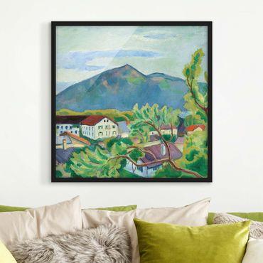 Poster con cornice - August Macke - Spring Landscape In Tegernsee - Quadrato 1:1