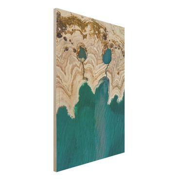 Quadro in legno - Laguna In Israele - Verticale 2:3