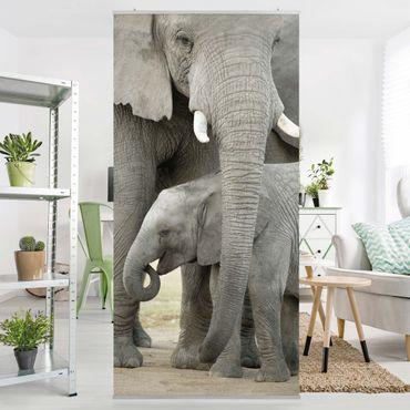 Tenda a pannello Elephant love 250x120cm