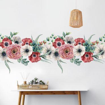 Adesivo murale - Acquerello Eucalyptus Border XXL