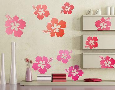 Adesivo murale no.546 Hibiscus Flowers