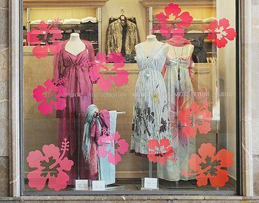 Adesivi da finestra no.546 Hibiscus Flowers
