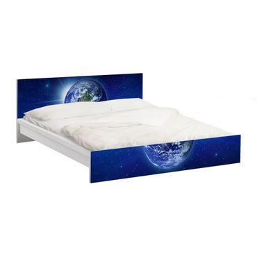 Carta adesiva per mobili IKEA - Malm Letto basso 180x200cm Earth in space