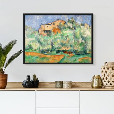 Poster con cornice - Paul Cézanne - House On Hill - Orizzontale 3:4