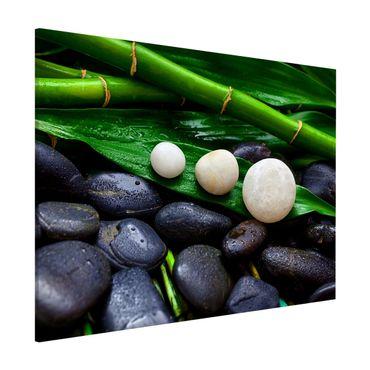 Lavagna magnetica - Verde bambù con Pietre Zen - Formato orizzontale 3:4